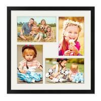 Collagerahmen 30x30 cm Modern Schwarz für 4 Bilder Acrylglas