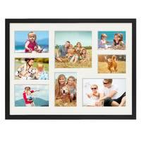 Collagerahmen 30x40 cm Modern Schwarz für 8 Bilder Acrylglas