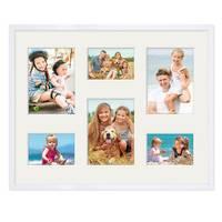 Collagerahmen 40x50 cm Modern Weiss für 6 Bilder Acrylglas
