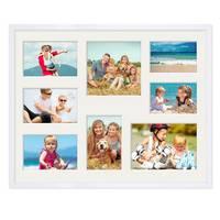 Collagerahmen 40x50 cm Modern Weiss für 8 Bilder Acrylglas