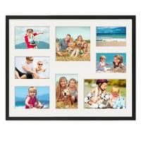 Collagerahmen 40x50 cm Modern Schwarz für 8 Bilder Acrylglas