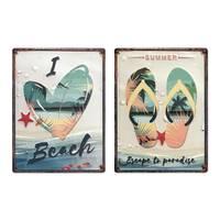 Blechschilder 2er Set Summer 30x40 cm