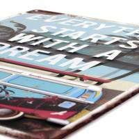 Blechschilder Retro 2er Set No.22 Summer Dream 30x40 cm Vintage Metallschild Bulli Spruch Nostalgieschild Maritim – Bild 3