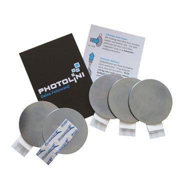 Metall-Haftplättchen 5er Set für Magnet-Fotowand