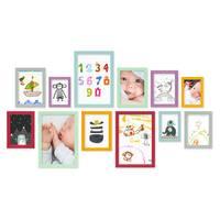 12er Set Bilderrahmen Bunt mit Acrylglas