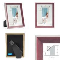 3er Bilderrahmen-Set Rot 13x18 cm Landhaus-Stil Mediterran   Massivholz-Rahmen mit Echtglasscheibe   Holz-Bilderrahmen Maritimer Stil – Bild 2