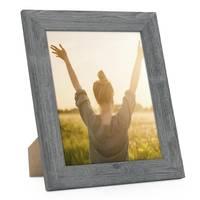 Holz-Bilderrahmen Grau Lasiert – Bild 5