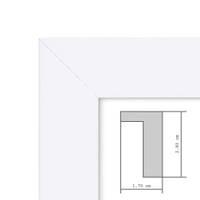 Bilderrahmen Tief mit Passepartout Modern Weiss – Bild 4
