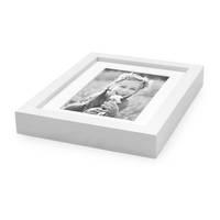 Bilderrahmen Tief mit Passepartout Modern Weiss – Bild 3