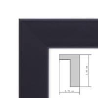 Bilderrahmen Tief mit Passepartout Modern Schwarz – Bild 4