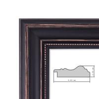 Holz-Bilderrahmen Breit Landhaus-Stil Dunkelbraun Shabby Chic – Bild 5