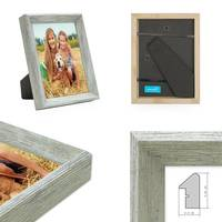 Holz-Bilderrahmen Grau Rustikal – Bild 4