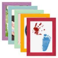 5er Set Bilderrahmen Bunt 13x18 cm Massivholz mit Acrylglasscheibe / Fotorahmen / Wechselrahmen