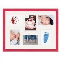 Collagerahmen 30x40 cm Modern Rot für 6 Bilder Acrylglas