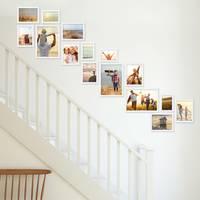 15er Bilderwand Treppenhaus Weiss Massivholz