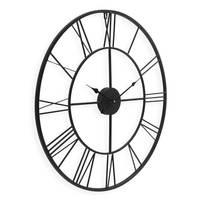 Wanduhr Schwarz Römisch 60 cm Durchmesser