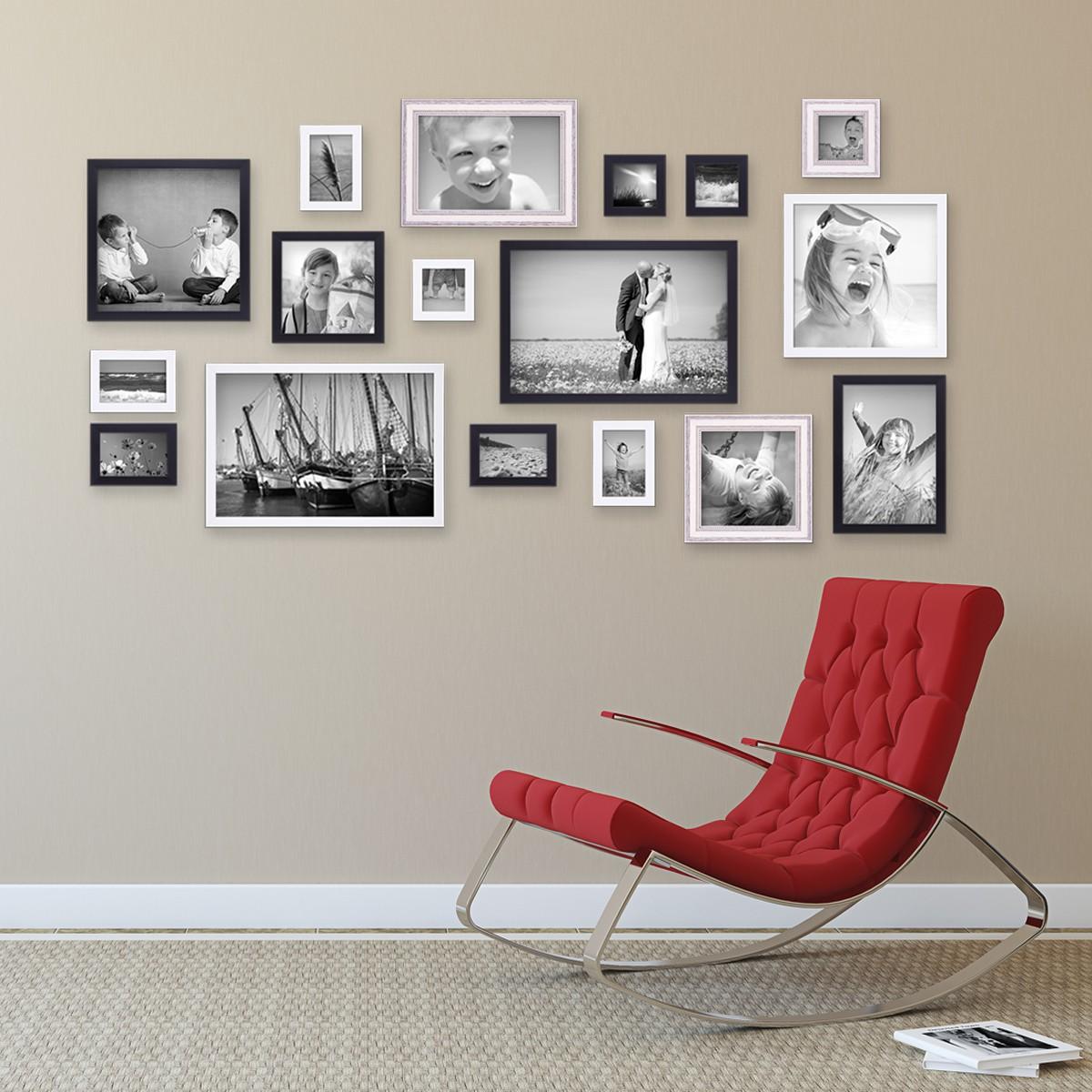 50er Bilderrahmen Set für grosse Bilderwand / Modern / Shabby Chic
