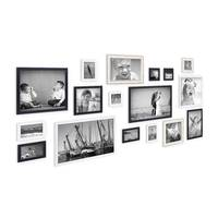 17er Set Bilderrahmen für grosse Bilderwand Größen 10x10 bis 30x45 cm, inkl. Zubehör, zur Gestaltung einer Bildergalerie