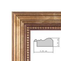 2er Set Bilderrahmen 30x40 cm Gold Barock Antik Massivholz mit Glasscheibe und Zubehör / Fotorahmen / Barock-Rahmen  – Bild 2