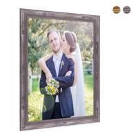 2er Set Bilderrahmen 30x40 cm Silber Barock Antik Massivholz mit Glasscheibe und Zubehör / Fotorahmen / Barock-Rahmen  – Bild 3