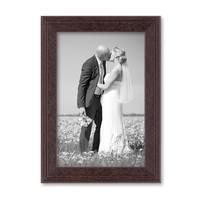 2er Set Landhaus-Bilderrahmen 10x15 cm Nuss Massivholz mit Glasscheibe und Zubehör / zum Stellen oder Hängen / Fotorahmen  – Bild 5