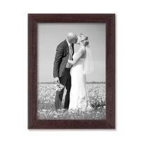2er Set Landhaus-Bilderrahmen 13x18 cm Nuss Massivholz mit Glasscheibe und Zubehör / zum Stellen oder Hängen / Fotorahmen  – Bild 5