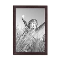 2er Set Landhaus-Bilderrahmen 21x30 cm  / DIN A4 Nuss Massivholz mit Glasscheibe und Zubehör / Fotorahmen  – Bild 4