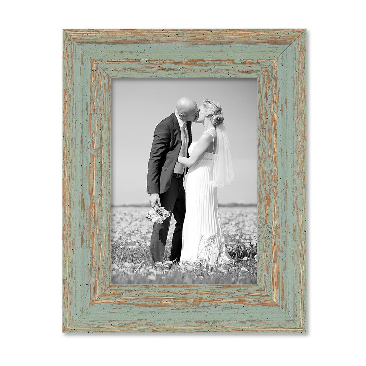 3er set vintage bilderrahmen 13x18 cm graugrün shabby