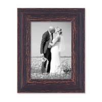 2er Set Vintage Bilderrahmen 13x18 cm Holz Dunkelbraun Shabby-Chic Massivholz mit Glasscheibe und Zubehör / Fotorahmen / Nostalgierahmen  – Bild 7