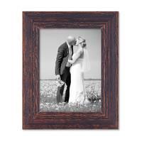 2er Set Vintage Bilderrahmen 15x20 cm Holz Dunkelbraun Shabby-Chic Massivholz mit Glasscheibe und Zubehör / Fotorahmen / Nostalgierahmen  – Bild 7