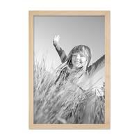 Bilderrahmen 30x42 cm / DIN A3 Kiefer Natur Modern Massivholz-Rahmen mit Glasscheibe und Zubehör / Fotorahmen  – Bild 5