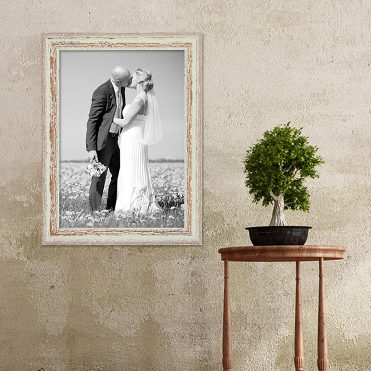 bilderrahmen 30x42 cm din a3 weiss shabby chic vintage. Black Bedroom Furniture Sets. Home Design Ideas
