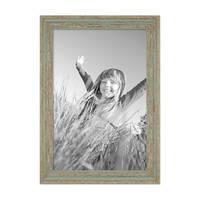 Vintage Bilderrahmen 30x42 cm / DIN A3 Grau-Grün Shabby-Chic Massivholz mit Glasscheibe und Zubehör / Fotorahmen / Nostalgierahmen  – Bild 4