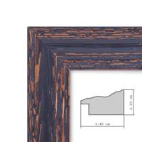 Vintage Bilderrahmen 18x24 cm Holz Dunkelbraun Shabby-Chic Massivholz mit Glasscheibe und Zubehör / Fotorahmen / Nostalgierahmen  – Bild 4