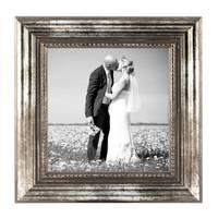 3er Set Bilderrahmen 15x15 cm Silber Barock Antik Massivholz mit Glasscheibe und Zubehör / Fotorahmen / Barock-Rahmen  – Bild 3