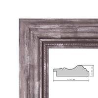 Bilderrahmen 30x30 cm Silber Barock Breit Massivholz mit Glasscheibe und Zubehör / Fotorahmen / Barock-Rahmen   – Bild 3