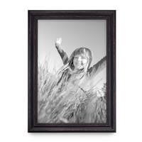 Bilderrahmen 40x50 cm Dunkelbraun Landhaus-Stil Breit Massivholz mit Glasscheibe und Zubehör / Fotorahmen / Shabby chic  – Bild 4