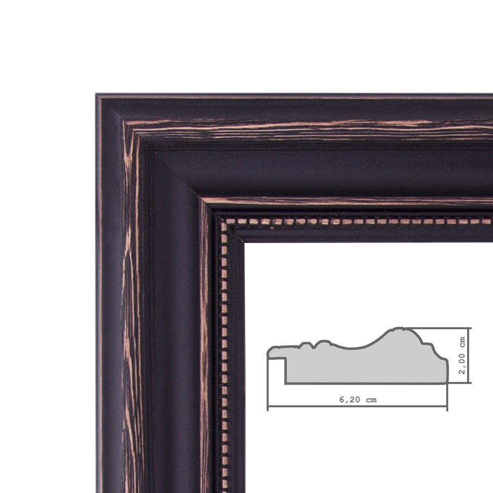 Bilderrahmen 50x60 Cm Dunkelbraun Landhaus Stil Breit
