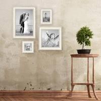 Bilderrahmen Shabby-Chic Landhaus-Stil Weiss 4er Set – Bild 3