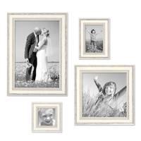 Bilderrahmen Shabby-Chic Landhaus-Stil Weiss 4er Set – Bild 1