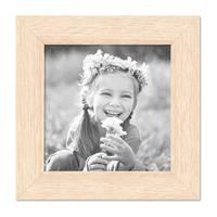 Bilderrahmen 10x10 cm Sonoma Eiche Hell Modern Massivholz-Rahmen mit Glasscheibe inkl. Zubehör / Fotorahmen  – Bild 1