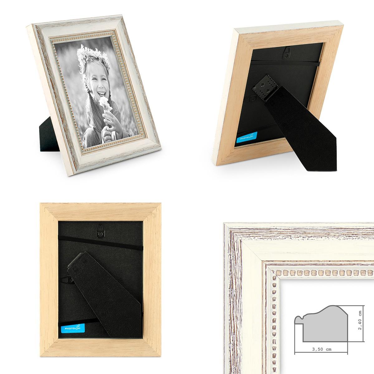 4er Set Bilderrahmen Shabby-Chic Landhaus-Stil Weiss 10x10 cm ...
