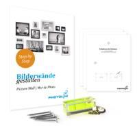 5er Set Bilderrahmen 20x30 cm Sonoma Eiche Hell Modern Massivholz-Rahmen mit Glasscheibe inkl. Zubehör / Fotorahmen  – Bild 3