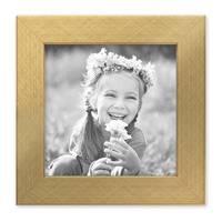 Bilderrahmen 15x15 cm Gold Modern Massivholz-Rahmen mit Glasscheibe inkl. Zubehör / Fotorahmen  – Bild 1