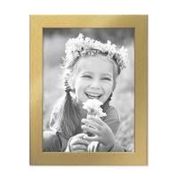 Bilderrahmen 15x20 cm Gold Modern Massivholz-Rahmen mit Glasscheibe inkl. Zubehör / Fotorahmen  – Bild 5