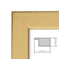 Bilderrahmen 21x30 cm / DIN A4 Gold Modern Massivholz-Rahmen mit Glasscheibe inkl. Zubehör / Fotorahmen  – Bild 2