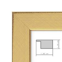 Bilderrahmen 30x42 cm / DIN A3 Gold Modern Massivholz-Rahmen mit Glasscheibe inkl. Zubehör / Fotorahmen  – Bild 3
