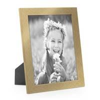 2er Set Bilderrahmen 18x24 cm Gold Modern Massivholz-Rahmen mit Glasscheibe inkl. Zubehör / Fotorahmen  – Bild 3