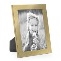 3er Set Bilderrahmen 13x18 cm Gold Modern Massivholz-Rahmen mit Glasscheibe inkl. Zubehör / Fotorahmen  – Bild 3