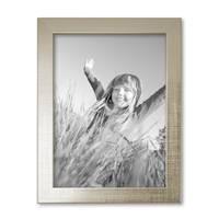 Bilderrahmen 18x24 cm Silber Modern Massivholz-Rahmen mit Glasscheibe inkl. Zubehör / Fotorahmen  – Bild 3